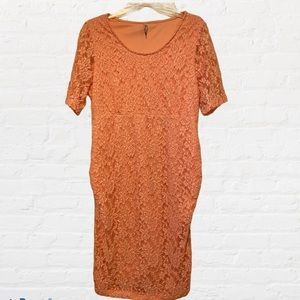Planet Motherhood Maternity Lace Bodycon Dress XL